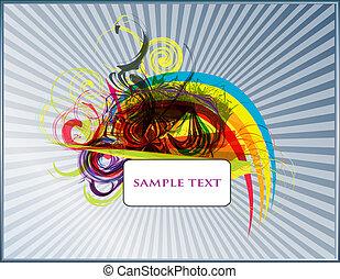 abstrakt, vektor, bakgrund, sätta, på, a, svart fond