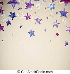abstrakt, vektor, bakgrund, stjärnor