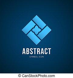 abstrakt, vektor, begreb, symbol, ikon, eller, logo, skabelon