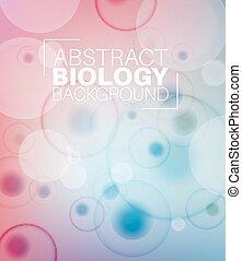 abstrakt, vektor, biologi, bakgrund