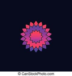 abstrakt, vektor, blomst, logo