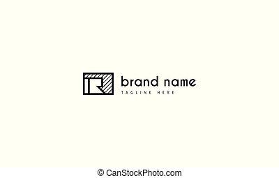 abstrakt, vektor, brief, logo, r., bild