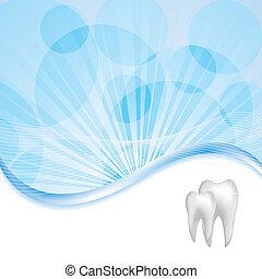 abstrakt, vektor, dental, abbildung