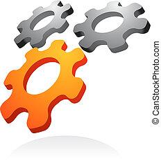 abstrakt, vektor, entwerfen element, -, 2