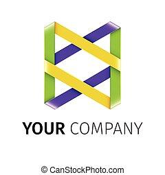 abstrakt, vektor, gefärbt, logotype