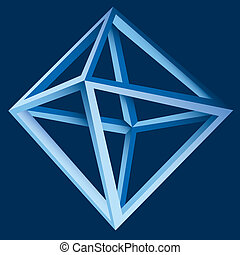 abstrakt, vektor, geometrisch, 3d