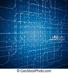 abstrakt, vektor, glühen, hintergrund, grid.