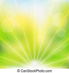 abstrakt, vektor, grüner hintergrund