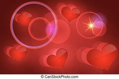 abstrakt, vektor, hearts., hintergrund