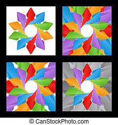 abstrakt, vektor, hintergrund, set., abbildung