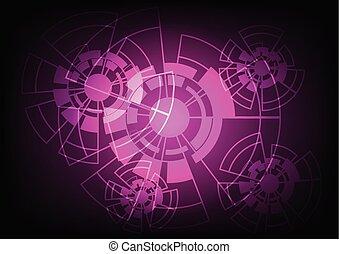 abstrakt, vektor, hintergrund, technologie, concept.