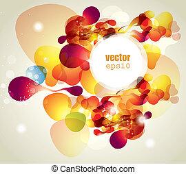 abstrakt, vektor, illustration