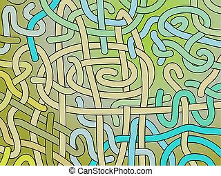 abstrakt, vektor, interlacing, baggrund
