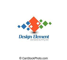 abstrakt, vektor, logo