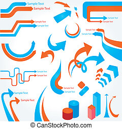 abstrakt, vektor, pfeile, hintergrund