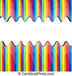 abstrakt, vektor, regnbåge, illustration, bacground