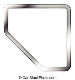 abstrakt, vektor, silver, ram, metallisk
