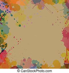 abstrakt, vektor, stänk, bakgrund