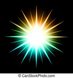 abstrakt, vektor, stern, glühen, hintergrund