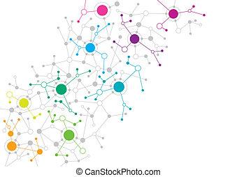 abstrakt, vernetzung, design