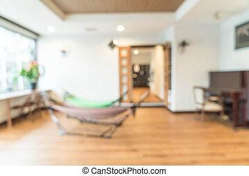 abstrakt, verwischen, innenausstattung, in, wohnzimmer