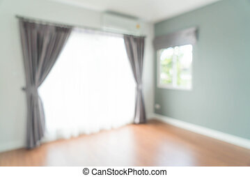 abstrakt, verwischen, vorhang, in, wohnzimmer