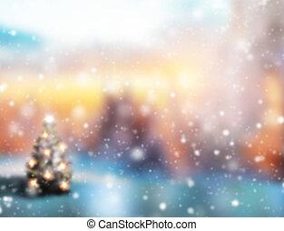 abstrakt, verwischen, weihnachten, hintergrund