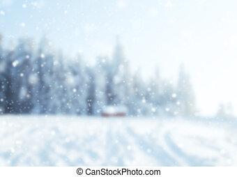 abstrakt, verwischen, winter, hintergrund