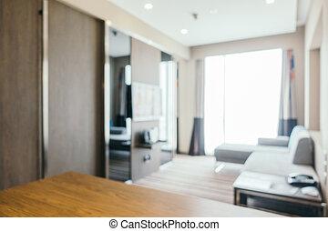 abstrakt, verwischen, wohnzimmer