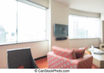 abstrakt, verwischen, wohnzimmer, inneneinrichtung