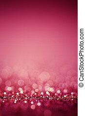 abstrakt, verwischt, rosafarbener hintergrund, mit, glitzer,...