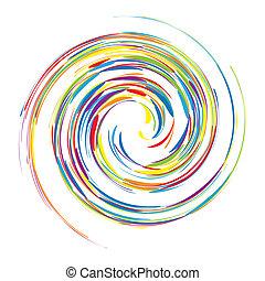 abstrakt, virvla runt, bakgrund, för, din, design