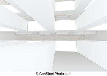abstrakt, vit, tömma rum
