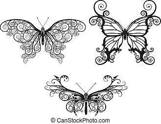 abstrakt, vlinders