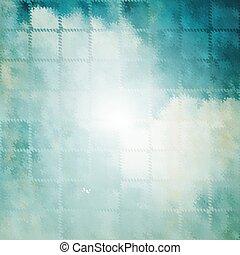 abstrakt, von, blaues licht, strahlen