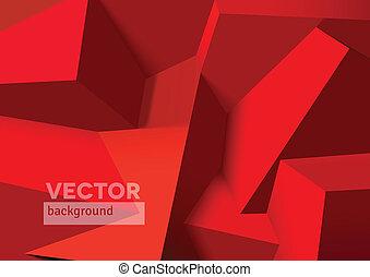 abstrakt, würfel, hintergrund, ubergreifen, rotes