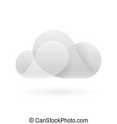 abstrakt, weiße wolke, grau