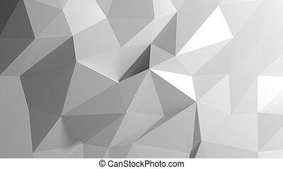 abstrakt, weißes, niedrig, poly, hintergrund