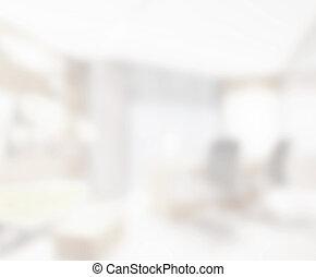 abstrakt, weißes, verwischen, inneneinrichtung, von, hintergrund