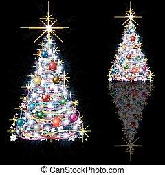 Schwarz abstrakt baum weihnachten abstrakt baum freigestellt schwarzer hintergrund - Schwarzer weihnachtsbaum ...
