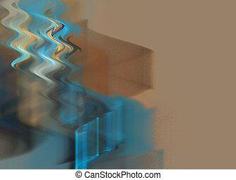 abstrakt, wellen, hintergrund