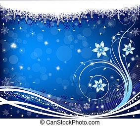 abstrakt, winter, hintergrund, vektor