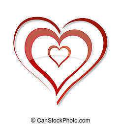 abstrakt, wirbel, lieben herz, symbol, rotes , farbe