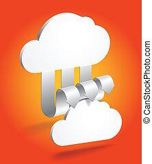 abstrakt, wolke, schema, in, perspective., schablone, für, a, zufriedene