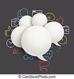 abstrakt, zusammensetzung, von, vortrag halten , wolkenhimmel, mit, modern, medien, heiligenbilder