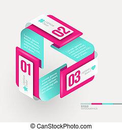abstrakte form, mit, infographics