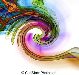 abstrakte kunst, rauchwolken, manipulation
