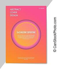 abstraktes design, booklets., format, editable, stil, ...