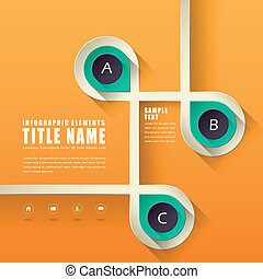 abstraktes design, infographics
