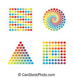 abstraktes design, spektrum